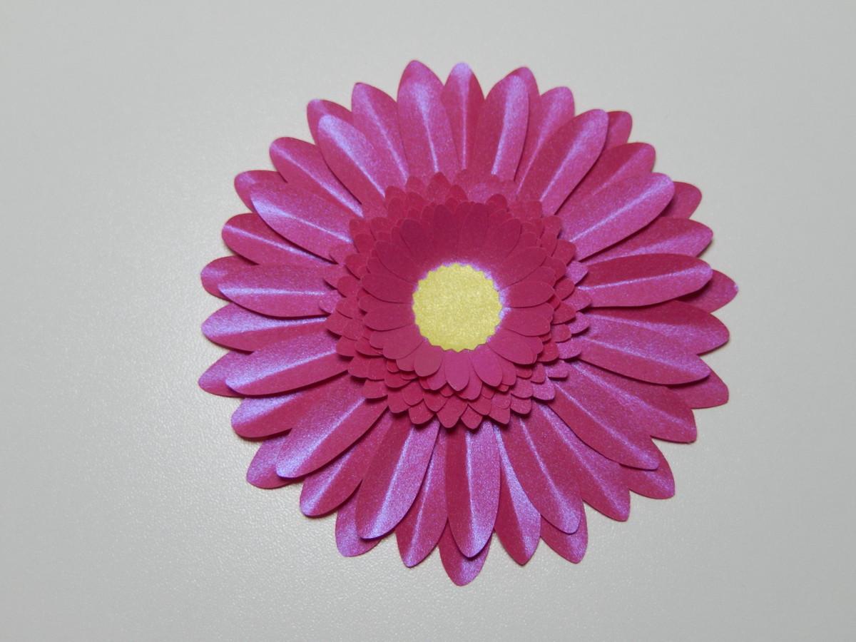 flor gérbera em papel cor pink no elo7 pingos de arte 99373a
