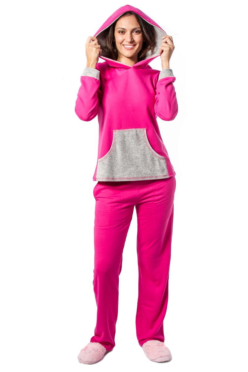 80673dee400c73 Pijama Feminino de Moletinho com Capuz