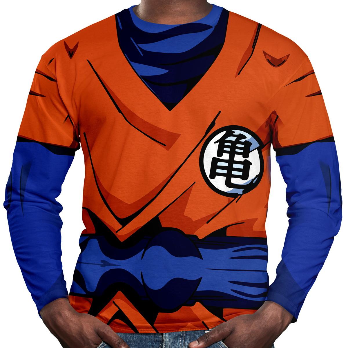 7c6cac29c8 Camiseta Manga Longa Goku no Elo7