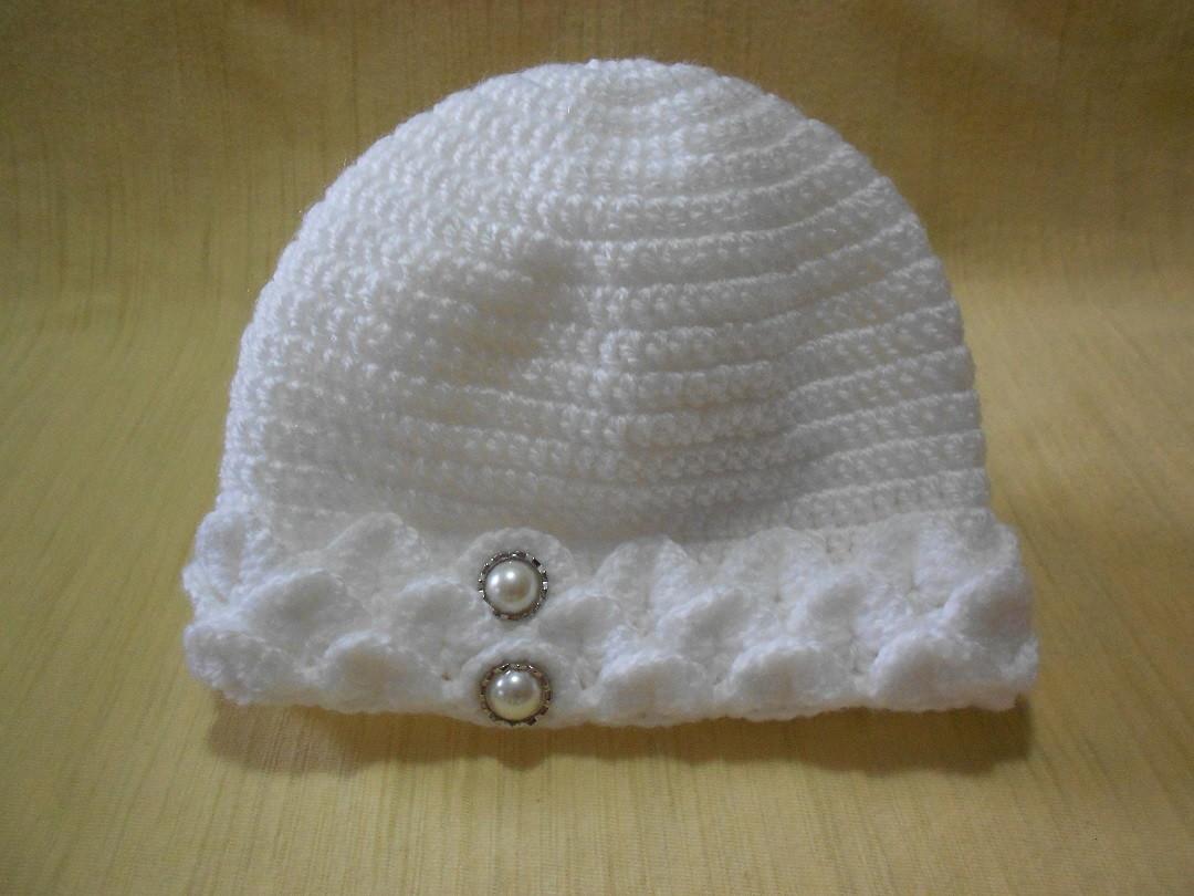 Touca de crochê para bebê no Elo7  5e9a4a8004b