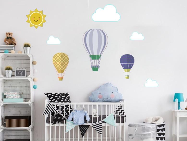 Artesanato Holandes ~ Adesivo de parede Infantil Bal u00e3o Nuvem Quarto de Beb u00ea