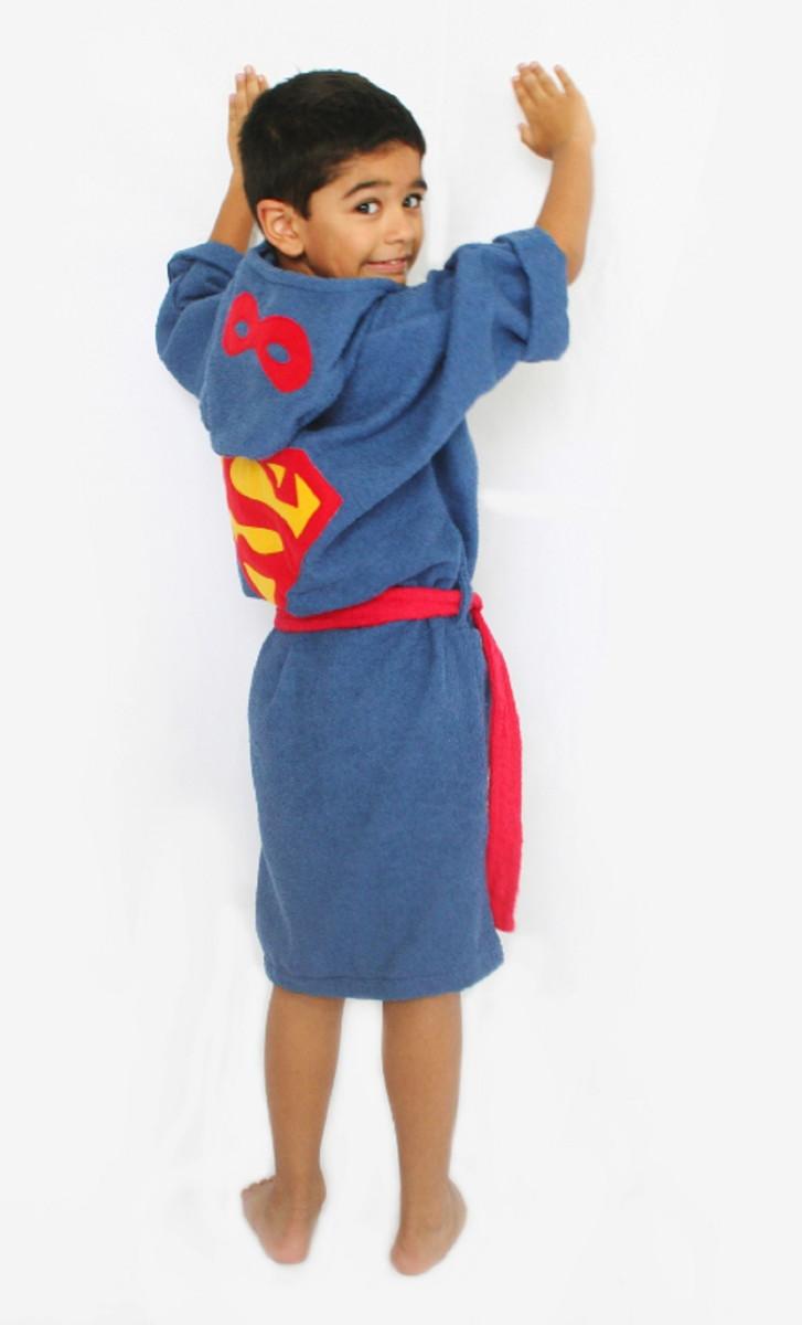 Roupão Infantil ~ Roup u00e3o infantil Super Homem Divers u00e3o em Toalhas Elo7