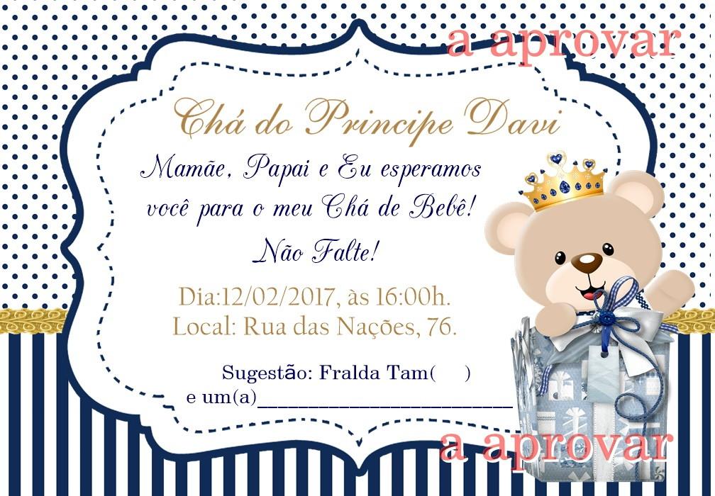 Convite Para Cha De Bebê Ursinho No Elo7 Acriativa Presentes 99bd57