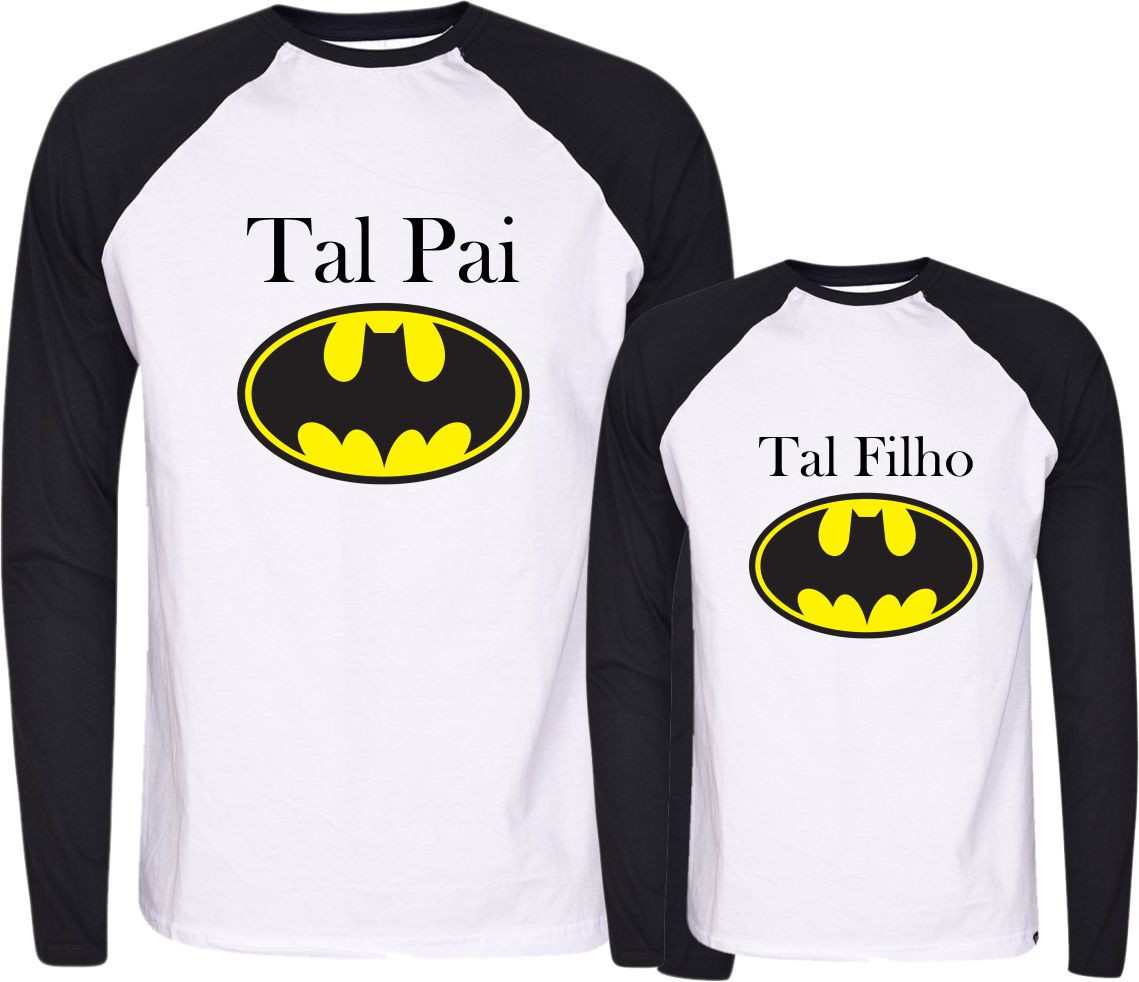 c925f3294847f4 Camisetas Tal Pai Tal Filho -Batman