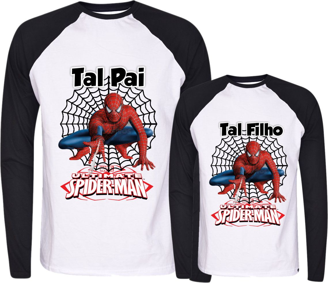 219304f7654d18 Camisetas Tal Pai Tal Filho Homem aranha