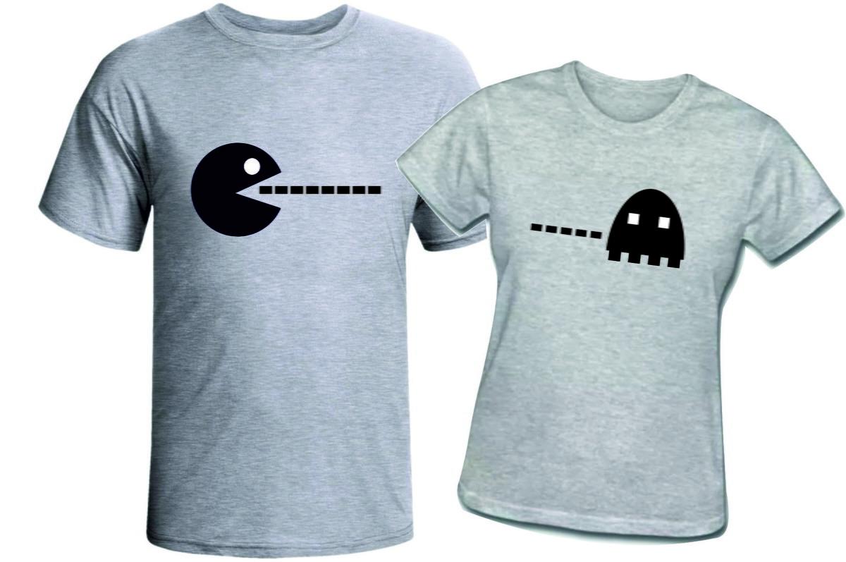 80535bfc2eecd4 Camisetas Casal PacMan no Elo7   Loja Das Camisetas (99FE92)
