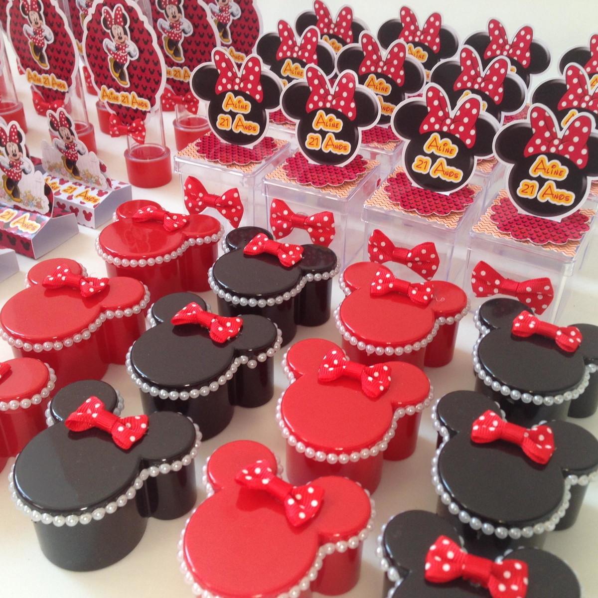 KIT FESTA MINNIE VERMELHA no Elo7 CECI FESTAS (9A1F25) -> Decoraçao De Festa Da Minnie Vermelha Simples