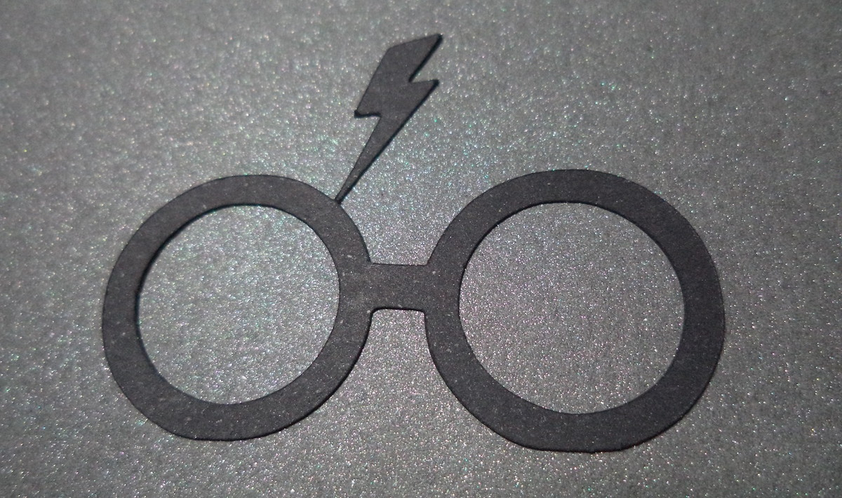 fe5346022e5ca Recorte Óculos do Harry Potter no Elo7