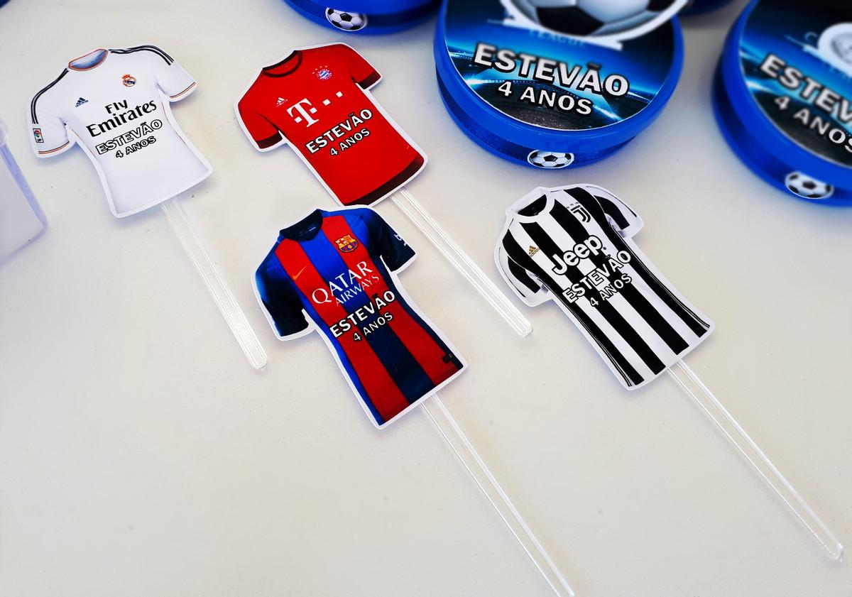 ac78bf549d Topper Futebol Camisas Champions League Plaquinha Doces no Elo7 ...