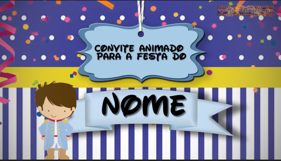 Convite Animado Pequeno Príncipe Moreno No Elo7 Vida Em