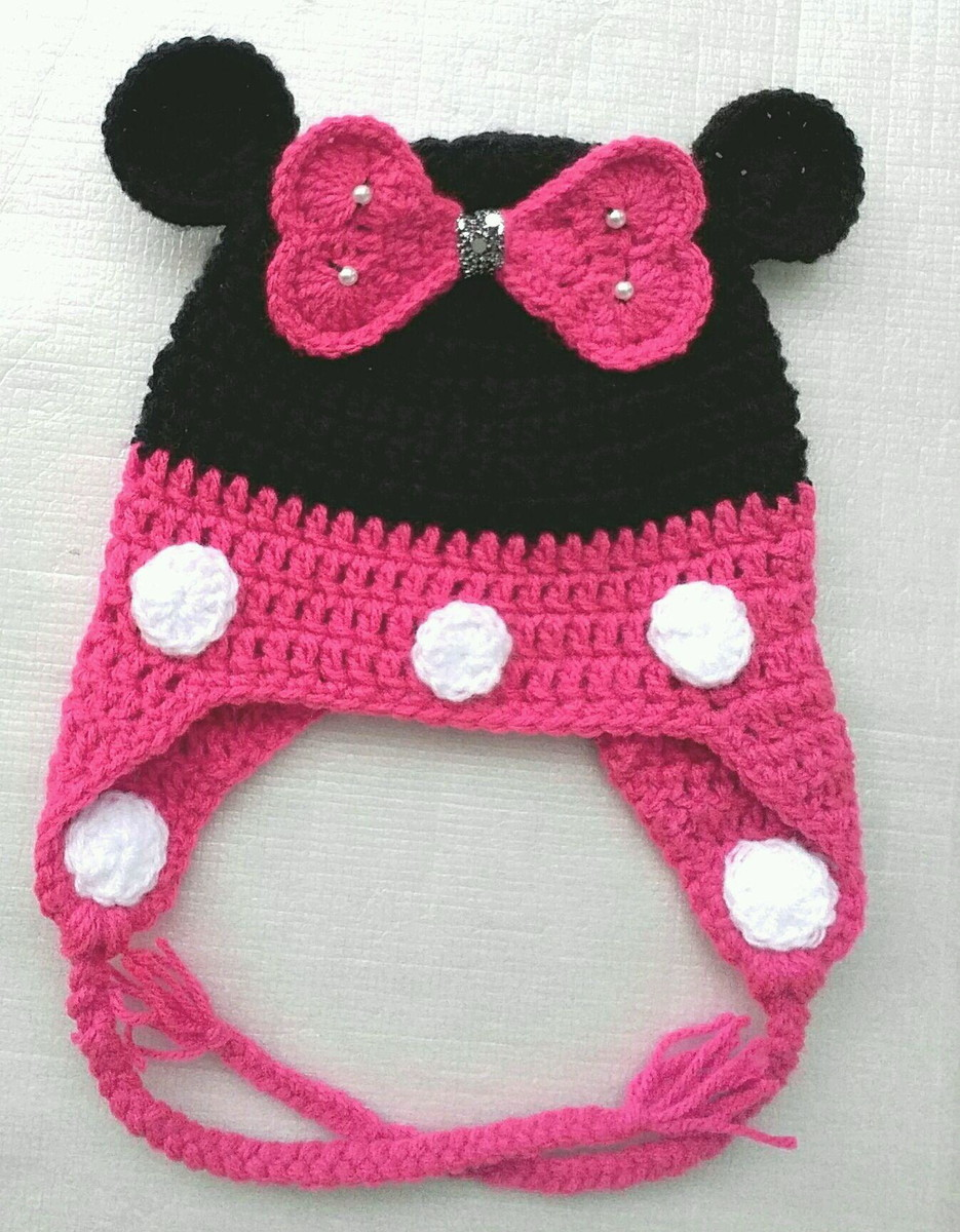Touca Minnie Mouse Bebê no Elo7  0b19e42a346