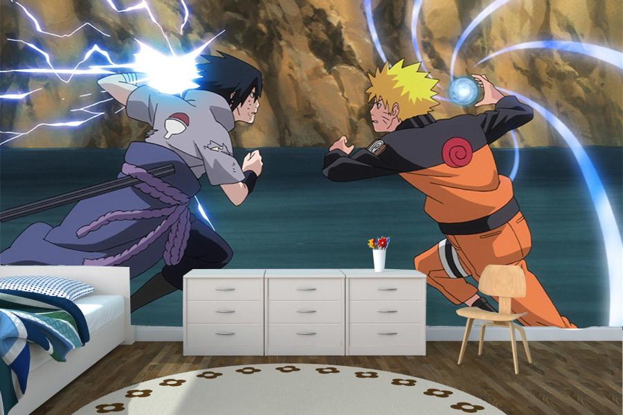 Papel De Parede Naruto Vs Sasuke No Elo7