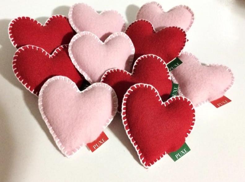 Mensagens Para Mãe Do Coração: Coração De Feltro Com Mensagem No Elo7