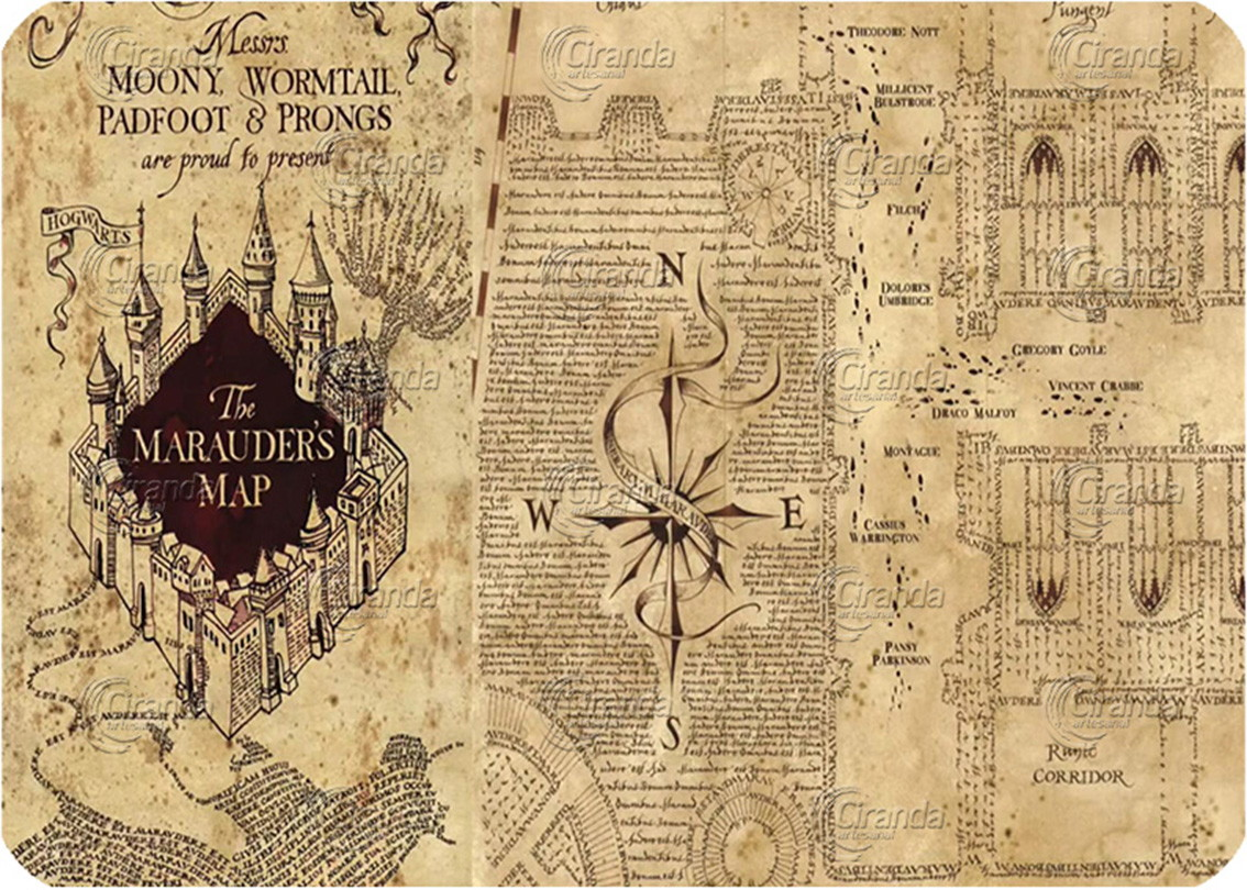 Placa Decorativa Harry Potter Mapa No Elo7 Ciranda Artesanal