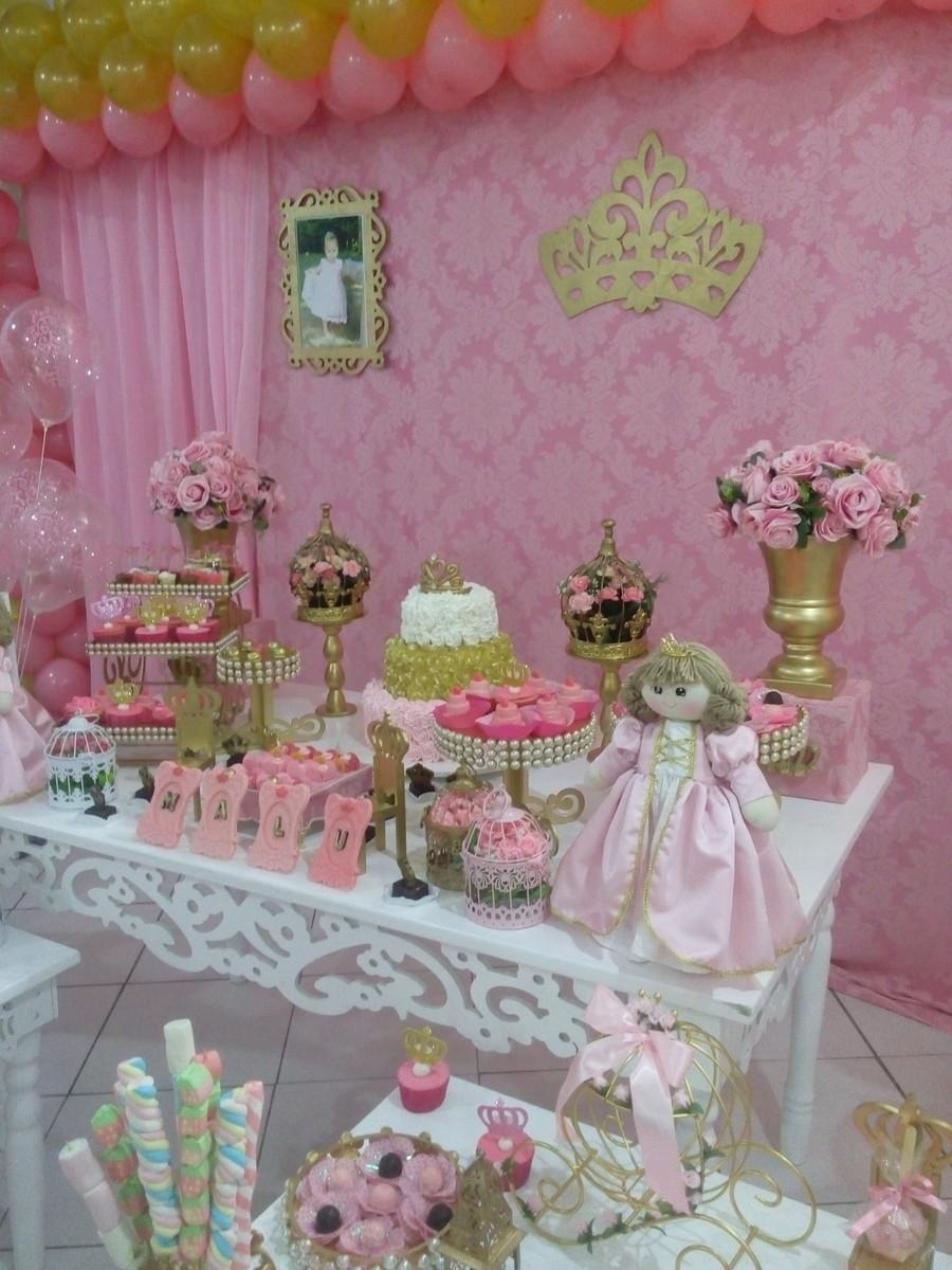 DECORA u00c7ÃO REALEZA LUXO (ALUGUEL) Thamara Decor Elo7 -> Decoração De Festa Infantil Realeza Luxo