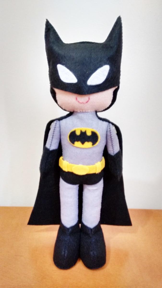 Boneco em feltro Batman no Elo7  4cb4e6b349e