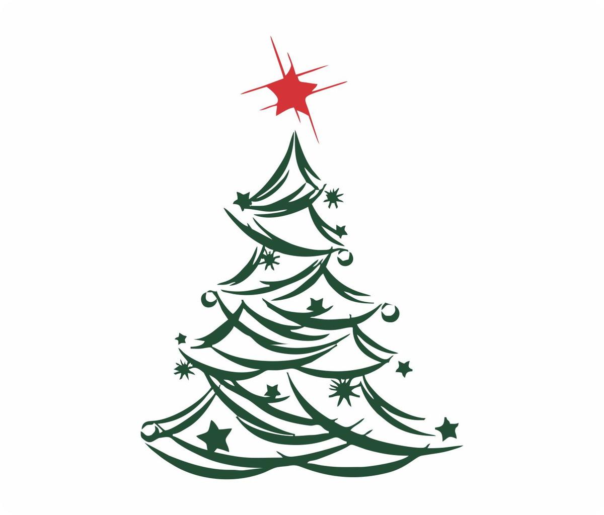 Adesivo de parede decorativo rvore de natal no elo7 ashow 833479 - Dessin sapin vert ...