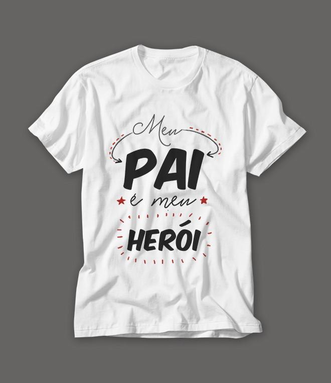 Camiseta Dia dos Pais Meu Pai Meu Herói no Elo7 RA Produtos