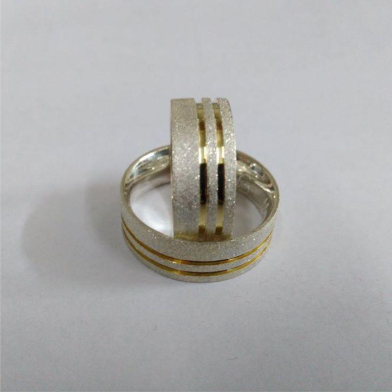 a303671986 Aliança compromisso Prata e Ouro no Elo7 | Pratarium Alianças (9B4B17)