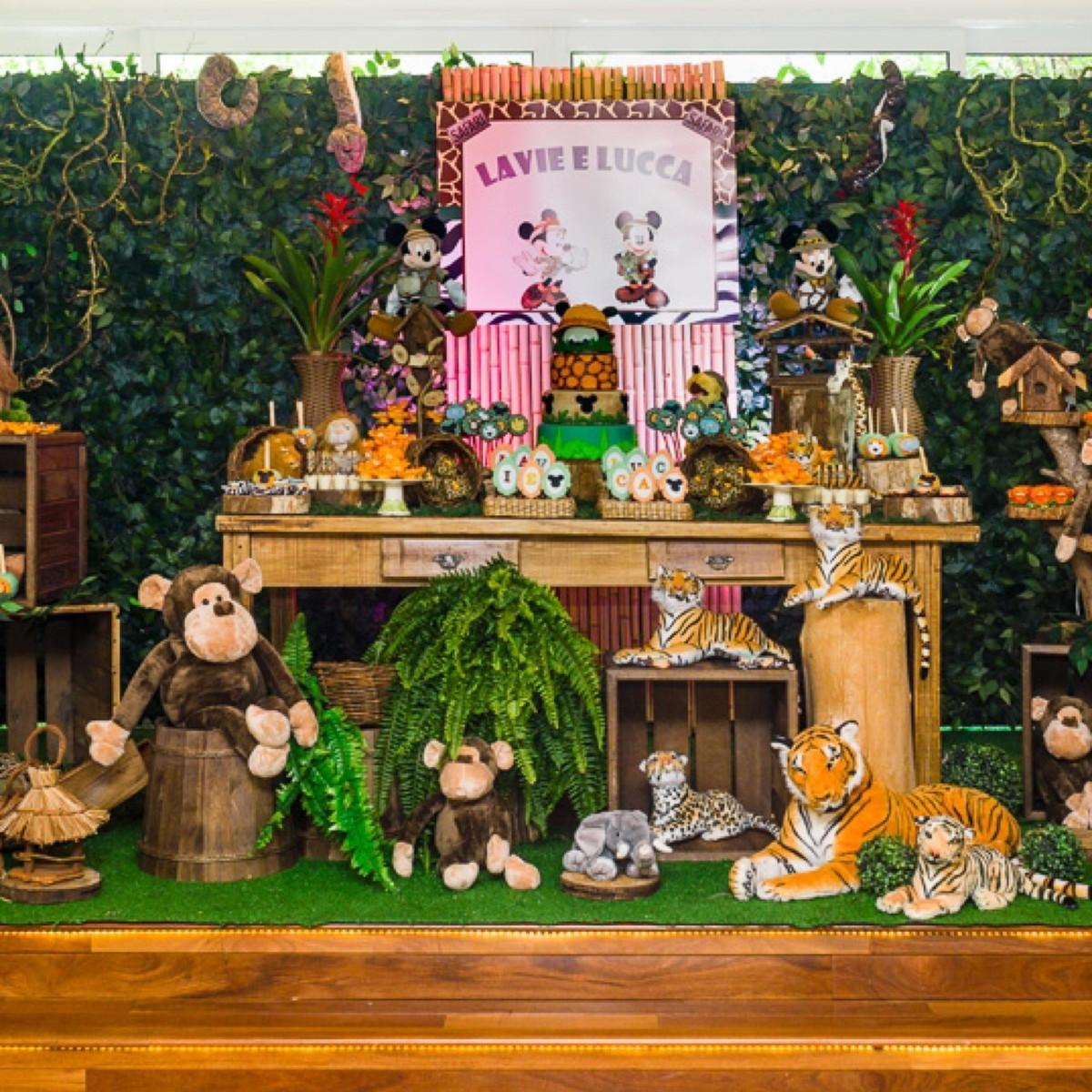 Decoraç u00e3o Festa Mickey Safari Super Promoç u00e3o Locaç u00e3o! no Elo7 L M Decora Festas (9B6B3E) -> Decoração Festa Infantil Zoologico