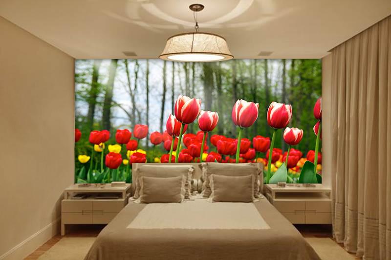 Papel de parede 3d flores 0019 ponto zero adesivos 3d elo7 for Papel pintado para paredes 3d