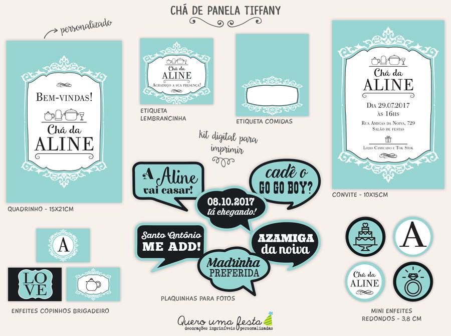 Kit Cha De Panela Tiffany Digital No Elo7 Quero Uma Festa 9b9466