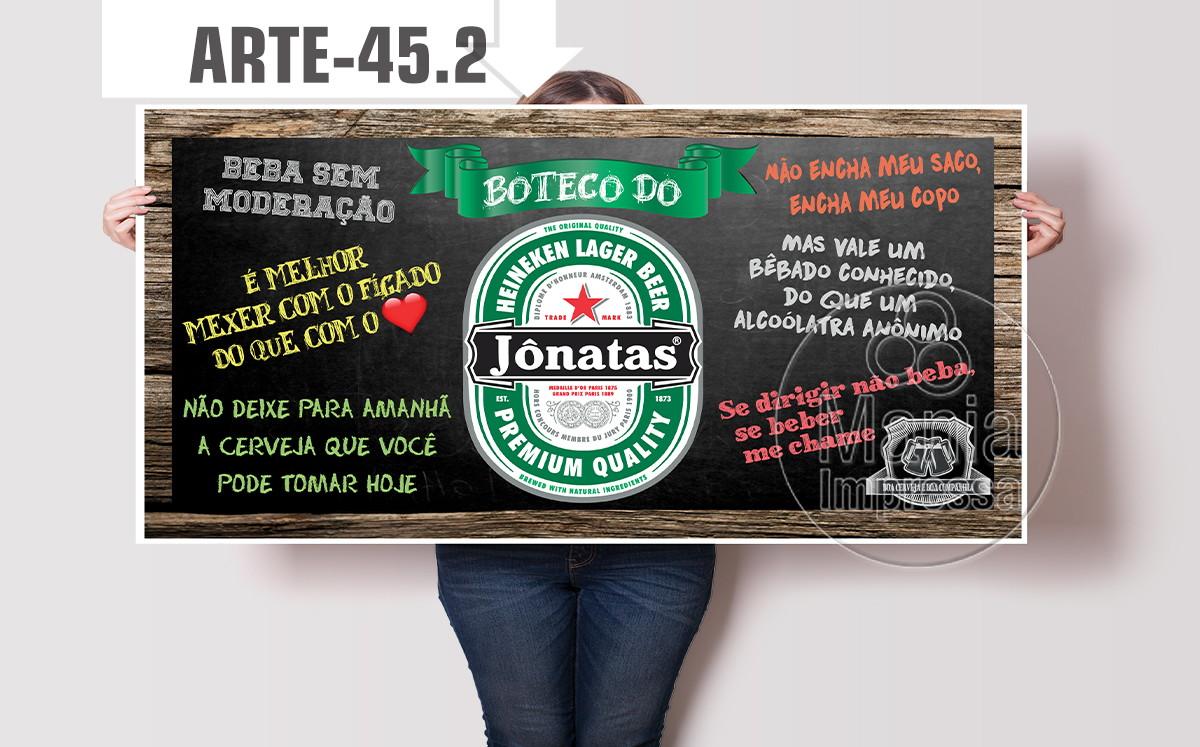 Painel Festa de Boteco Heineken Personalizado com Nome no Elo7 Mania Impressa (9BAD22)