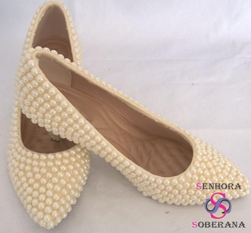 9ebd6d4353 Sapato off white perolado (Noivas) no Elo7