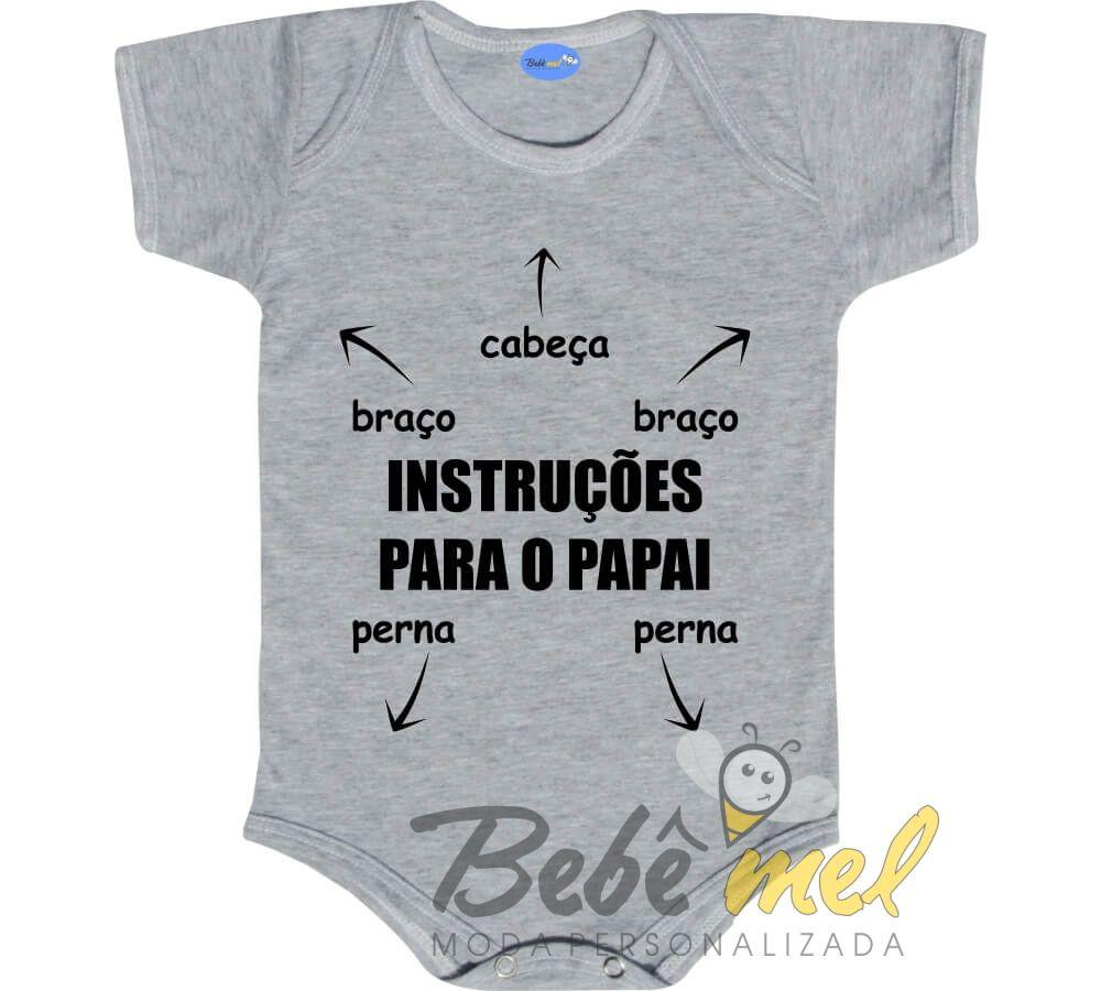 4881109efa0 Body Bebê Roupa Instruções para o Papai no Elo7