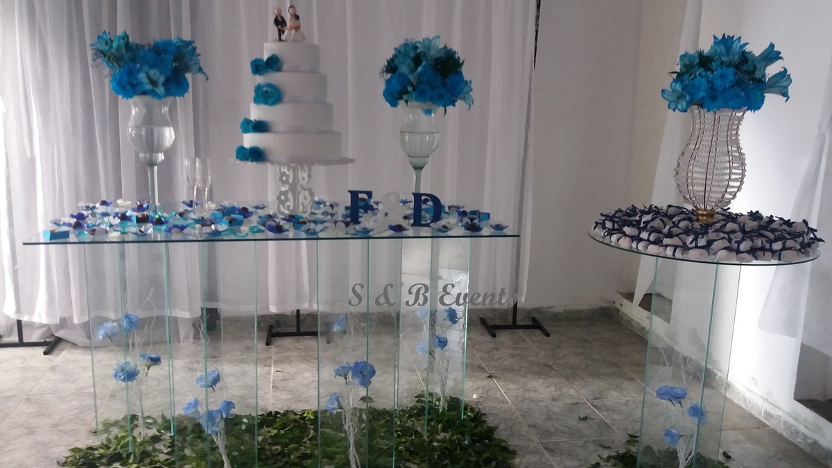 Decoraç u00e3o de casamento de vidro no Elo7 S& B Events (9C05ED)