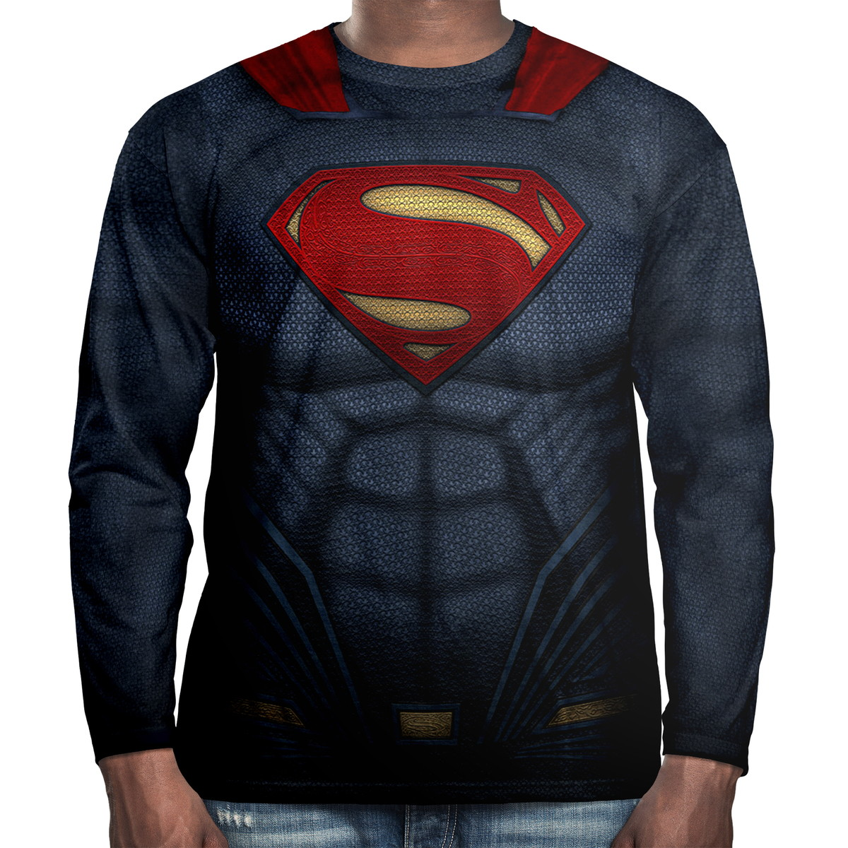 547b75a0d1 Camiseta Manga Longa Superman no Elo7