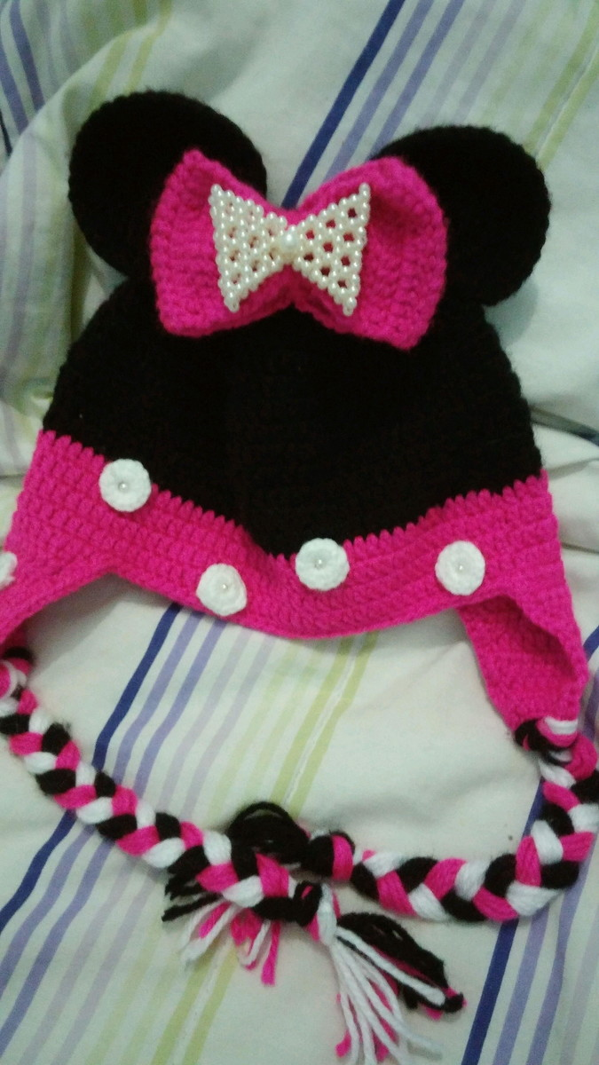 Gorro infantil Minnie Mouse luxo. no Elo7  b82fb37da83