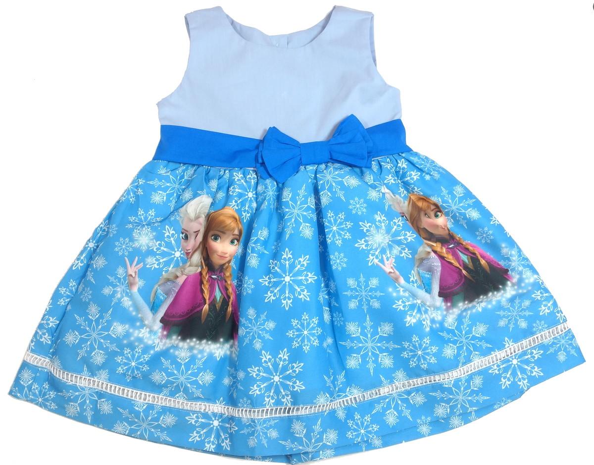 e4888e5b6 Vestido Frozen Azul Ana e Elsa 1-6 anos no Elo7