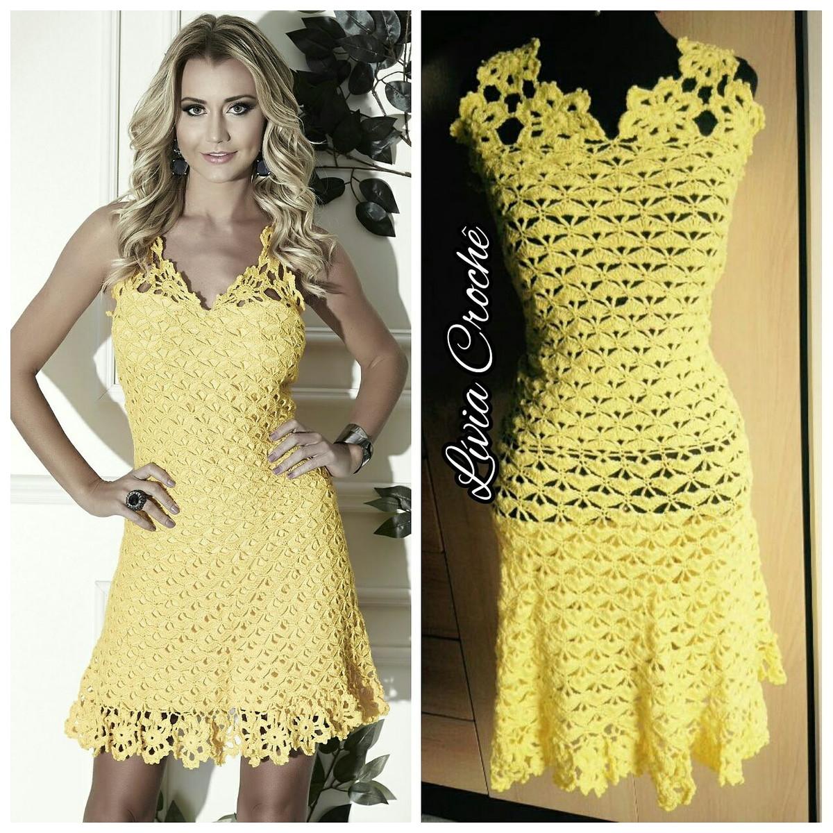 32337c25d Vestido Amarelo Anne no Elo7 | Lívia Crochê (9C5ED0)