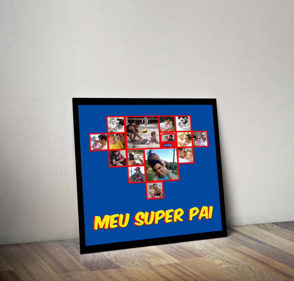 Excepcional Quadro Super Pai - Dia dos Pais | Flor Rara | Elo7 WN94