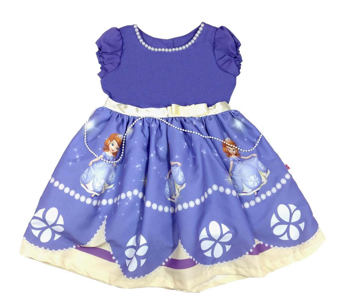 Vestido Princesa Sofia Luxo 1 6 Anos