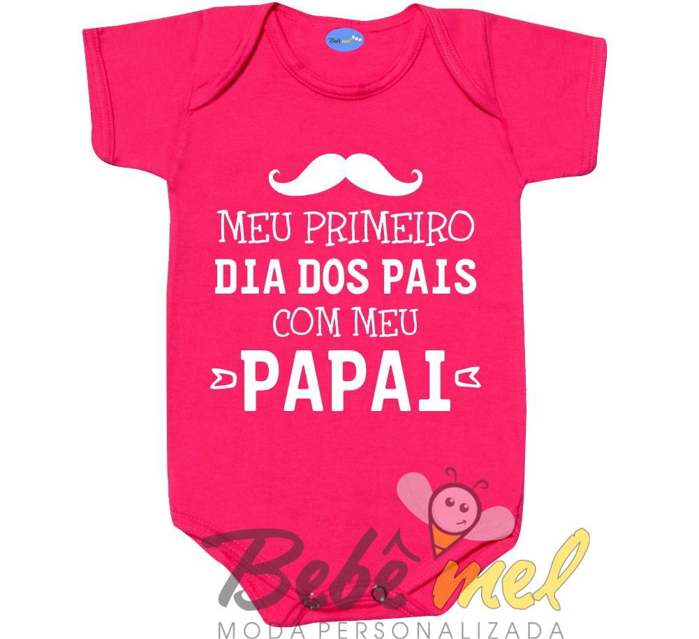 Body Primeiro Dia Dos Pais Menina No Elo7 Loja Bebê Mel 9ca294