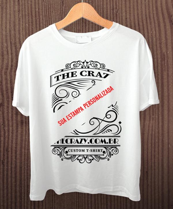 Camiseta Branca Personalizada a escolha no Elo7  fc096efe797