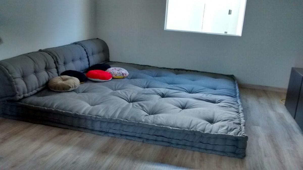 Sof cama tatame gigante de futon no elo7 caoarteiroshop for Sofa que vira beliche onde comprar