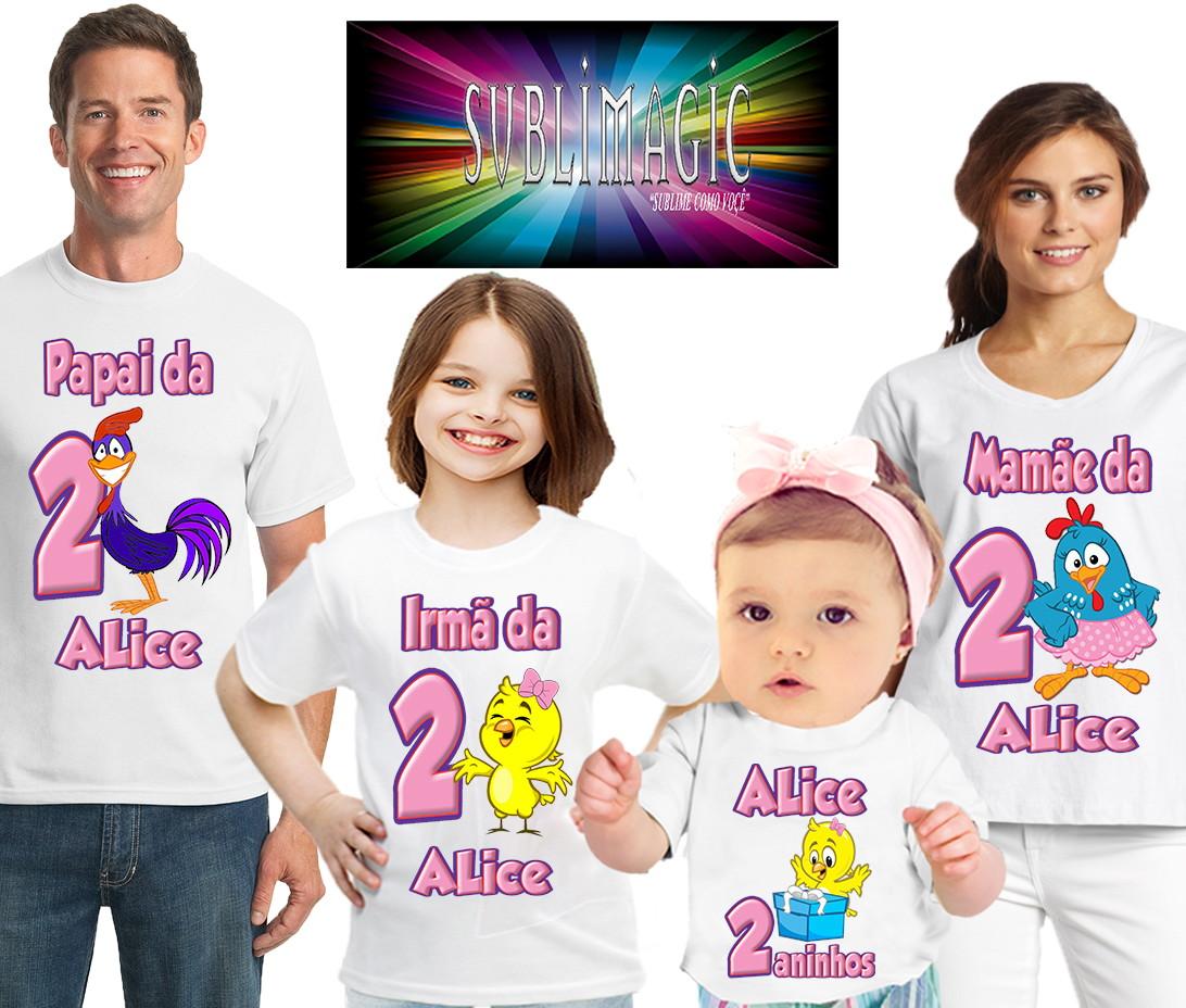 0a7b9dd18 Kit 4 Camisetas Galinha Pintadinha Rosa no Elo7   SUBLIMAGIC (9CF0E6)