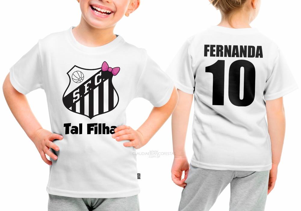 Camisa Santos Tal Filha no Elo7  a70e32b18f170