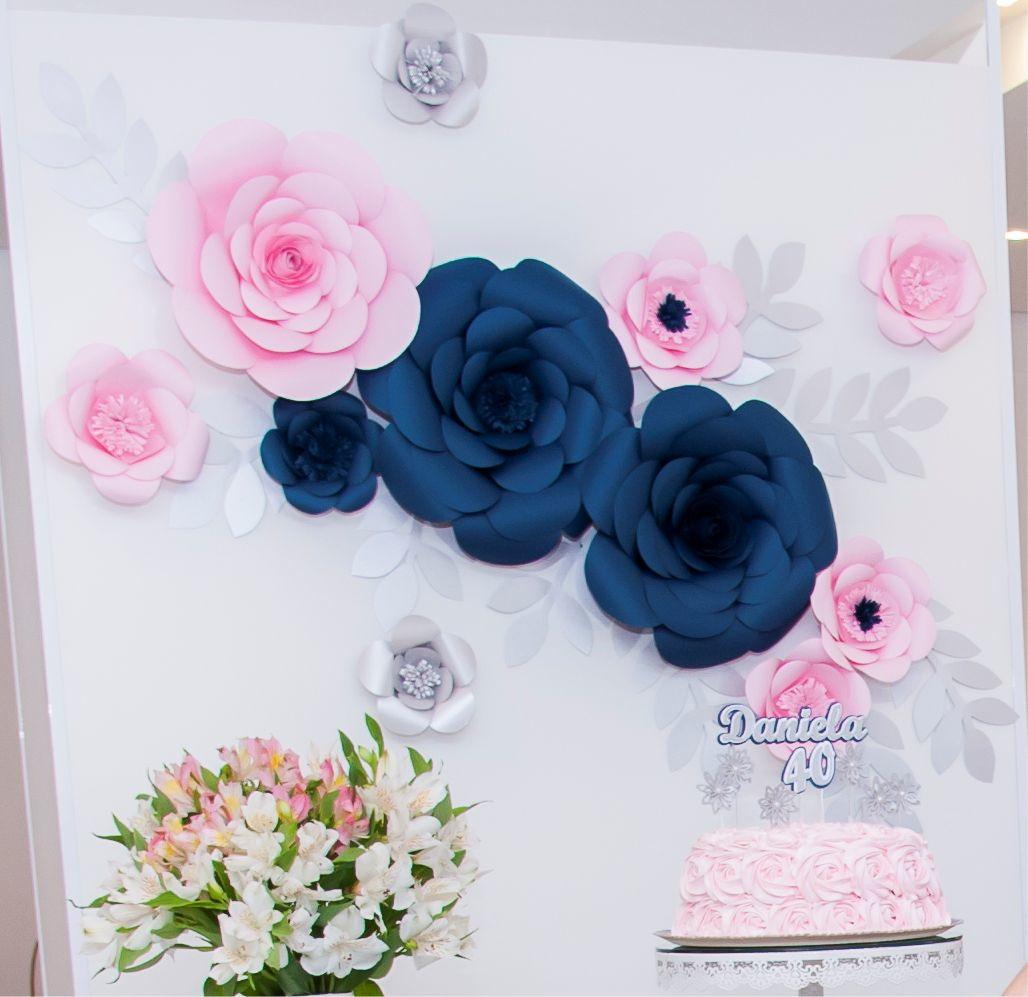 Kit flores de papel para decoraç u00e3o no Elo7 PullStick Adesivos e Papelaria Personalizada (9D5565) -> Decoração De Flores De Papel Para Aniversario