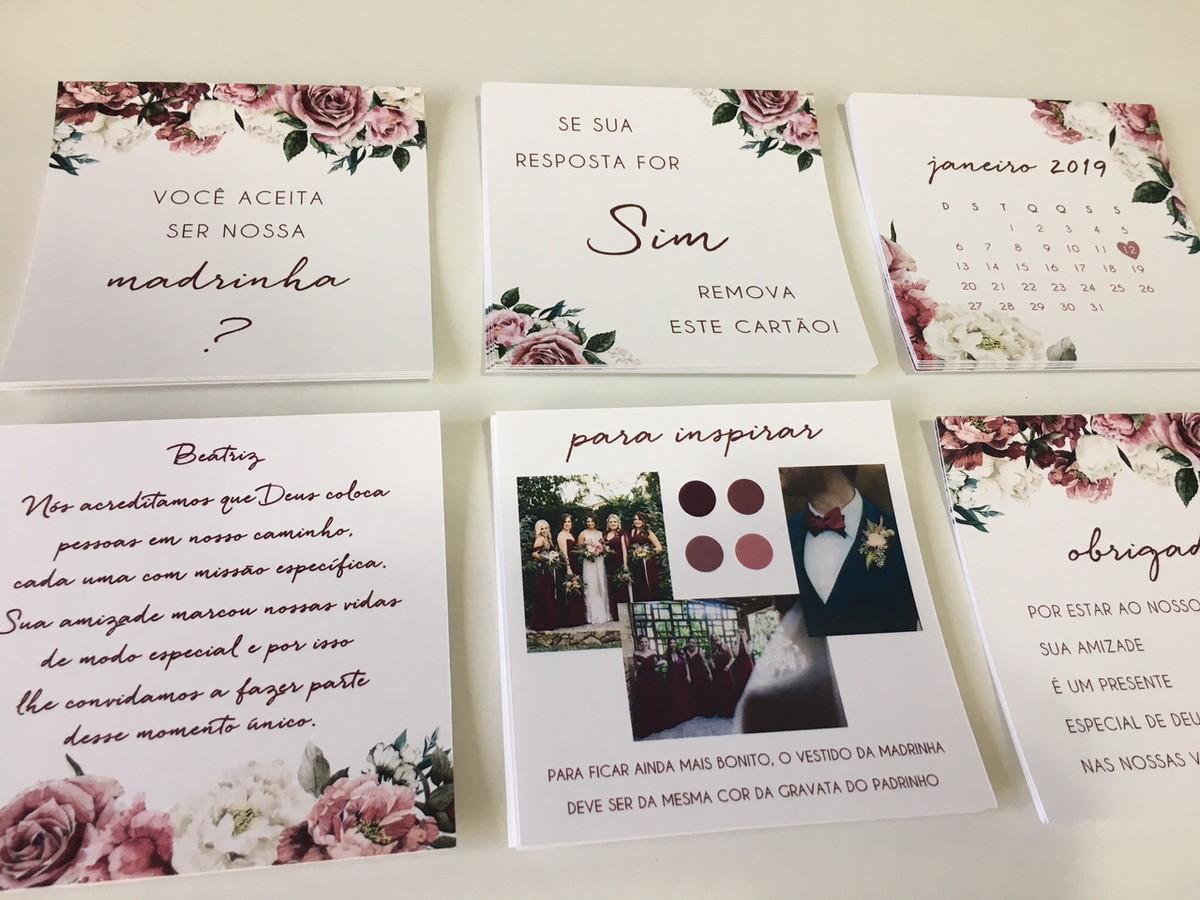 Cartões Convite Padrinhos No Elo7 Camila Garcia Convites 9d7363