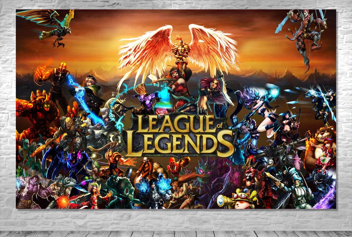 Painel League Of Legends Frete Gratis No Elo7 One Artes 9d7d16