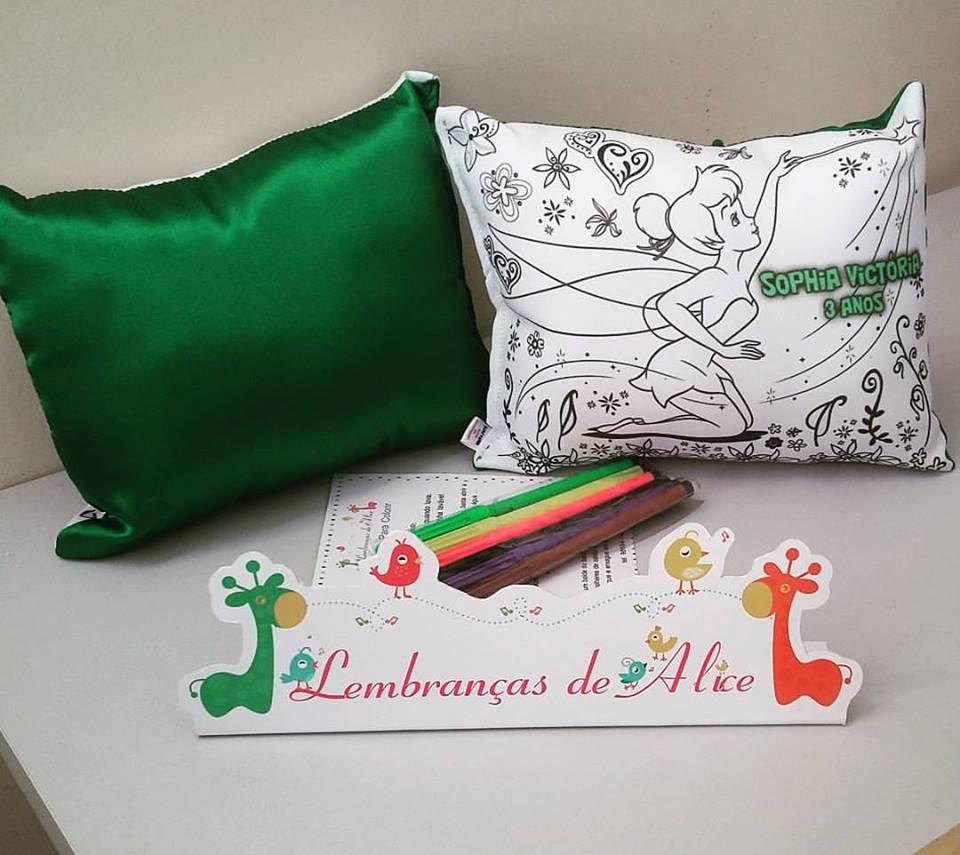 Almofada Para Colorir Sininho No Elo7 Lembrancas De Alice 9d813e