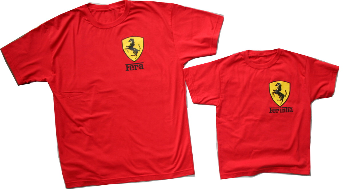 f21de6d807663 Kit Camisetas Ferrari no Elo7