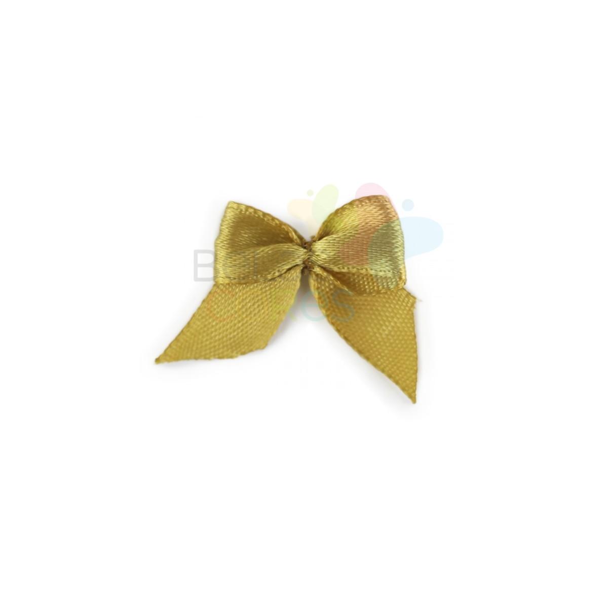 50 Mini Lacinhos de Cetim Dourado no Elo7   Belas Cores ... 14d8781cf9
