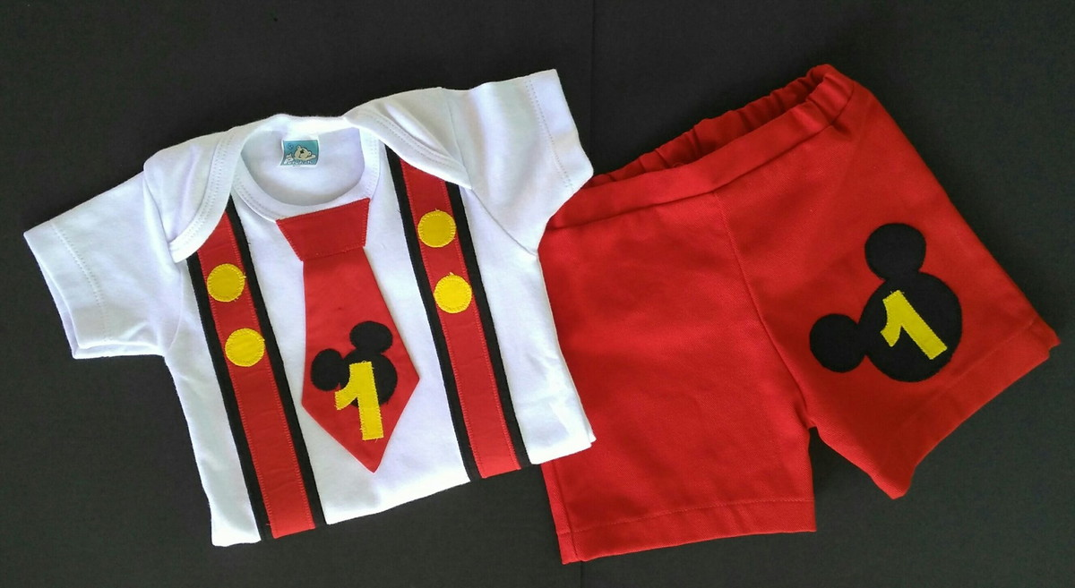 215d016d16 Conjunto Mickey 1 ano Smash the Cake no Elo7