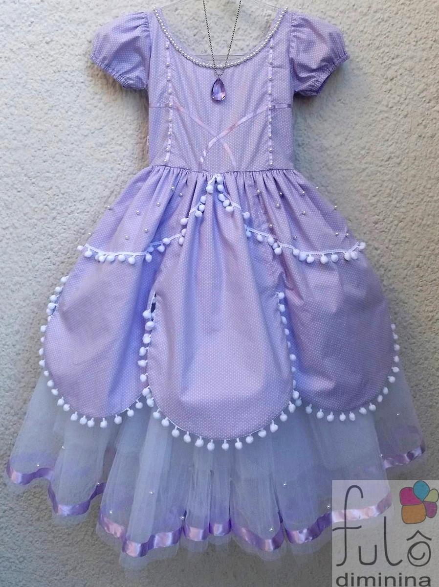 Vestidofantasia Princesinha Sofia Luxo