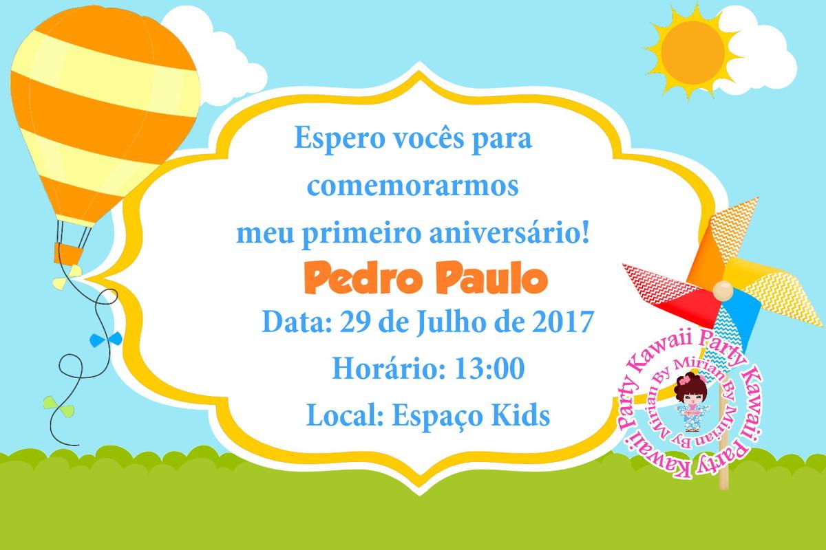 Convite Digital Catavento No Elo7 Kawaii Party 9dd22b